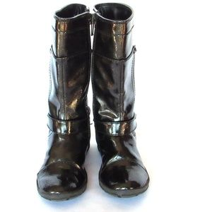 Nordstrom Girl's Patent Leather Tall Boots Size 24